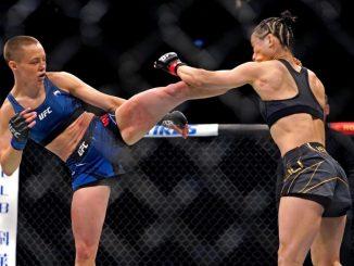 Namajunas high kick Zhang